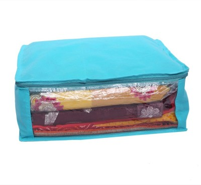 KUBER INDUSTRIES Designer Non Woven Saree Cover SKU004003 Blue KUBER INDUSTRIES Garment Covers