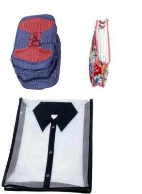 KUBER INDUSTRIES Designer Shirt   shoe cover   Travelling kit  3 Pcs Combo  MKU5077 Multicolor KUBER INDUSTRIES Garment Covers