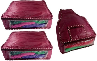 KUBER INDUSTRIES Designer Saree Cover 2 Pcs   Blouse Cover MKU599 Maroon KUBER INDUSTRIES Garment Covers