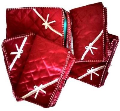 KUBER INDUSTRIES Designer Full length saree cover 5 Pcs Combo Mku213 Maroon KUBER INDUSTRIES Garment Covers