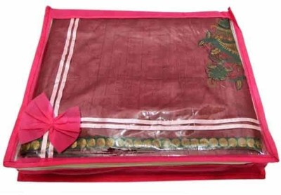 KUBER INDUSTRIES Saree Cover 6 Pcs in non wooven Mku189 Pink KUBER INDUSTRIES Garment Covers