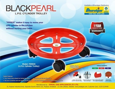 Black Pearl Plt-Trolly Gas Cylinder Trolley(Red, Pack of 1)  available at flipkart for Rs.190