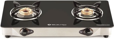 Bajaj Majesty CGX2 Eco Glass, Stainless Steel Manual Gas Stove(2 Burners)