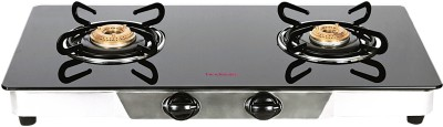 Hindware Armo Stainless Steel, Glass Automatic Gas Stove(2 Burners) at flipkart