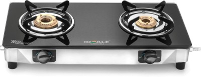Ideale Chrome Stainless Steel Manual Gas Stove(2 Burners) at flipkart