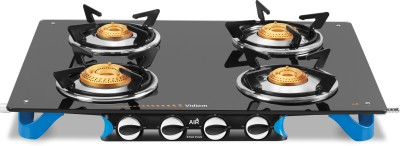 Vidiem AIR Stile Plus Glass Manual Gas Stove(4 Burners) at flipkart