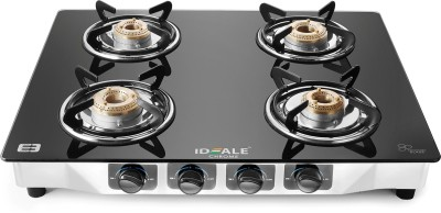 Ideale Chrome Stainless Steel Manual Gas Stove(4 Burners) at flipkart