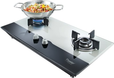 Prestige HobTop Glass, Aluminium Automatic Gas Stove(2 Burners)