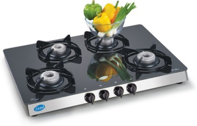 GLEN GLEN Steel Manual Gas Stove(4 Burners) at flipkart