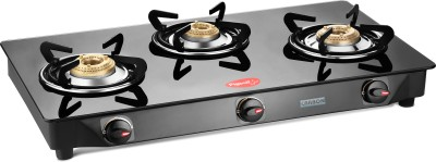 Pigeon Carbon 3 Steel Manual Gas Stove(3 Burners) at flipkart