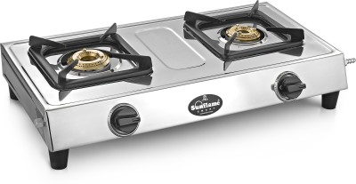 Sunflame Smart Stainless Steel Manual Gas Stove(2 Burners) at flipkart