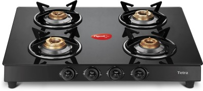 Pigeon Stainless Steel, Glass Manual Gas Stove(2 Burners)