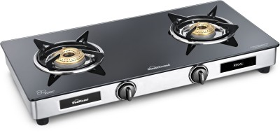sunflame regal glass stainless steel manual gas stove