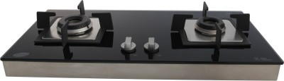 GLEN Glass Automatic Gas Stove(2 Burners) at flipkart