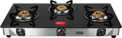 Pigeon Steel, Glass Manual Gas Stove(3 Burners)