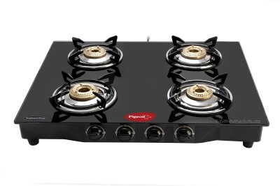 Pigeon Brass Square Steel Manual Gas Stove(4 Burners)