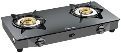 Sunflame Pride Glass, Stainless Steel Manual Gas Stove(2 Burners)