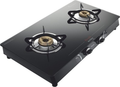 Preethi Blu Flame Gleam Glass Manual Gas Stove(2 Burners)