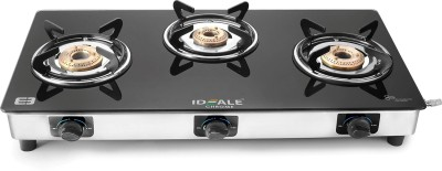 Ideale Chrome Stainless Steel Manual Gas Stove(3 Burners) at flipkart