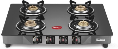 Pigeon Carbon 4 Steel Manual Gas Stove(4 Burners)