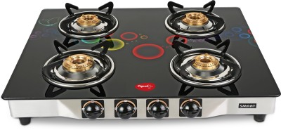 Pigeon Apollo 4 Steel Manual Gas Stove(4 Burners) at flipkart
