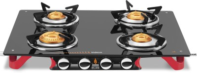 Vidiem AIR Elan Glass Manual Gas Stove(4 Burners) at flipkart