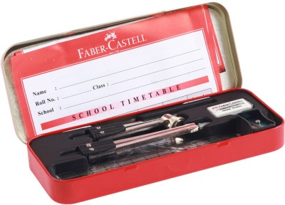 Faber-Castell I-Tec Metal Geometry Boxes(Multicolor)