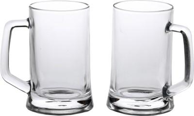 Somil Somil Glass Multipurpose Beer Mug With Handle Set Of 2 Glass Set(Glass, 400 ml, Clear, Pack of 2) at flipkart