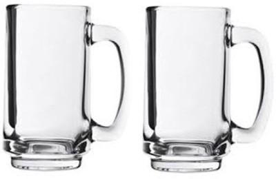 Glasstick  Pack of 2  Blink Max Plain Beer Mug IBG 004 Glass Set 360 ml, Glass Glasstick Bar Glasses