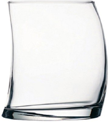 Somil Multi Purpose Party Designer Glass Set_098729 Glass Set(330 ml, Clear, Pack of 6)