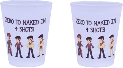 The Crazy Me Glass Set(50 ml, Clear, Pack of 2) at flipkart