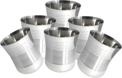 bartan hub Glass Set(150 ml, Steel, Pack of 6)  available at flipkart for Rs.329