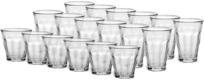 Duralex Picardie Glasses Set Glass Set(Borosilicate Glass, 220 ml, Clear, Pack of 18) at flipkart