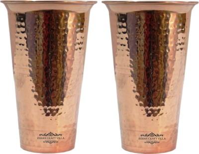 Indian Craft Villa  Pack of 2  ICV C9 123 Glass 1100 ml, Copper Indian Craft Villa Glasses