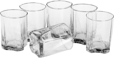 Somil Glass Set(270 ml, Clear, Pack of 6) at flipkart
