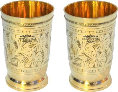 Indian Craft Villa Glass(500 ml, Gold, Pack of 2) at flipkart