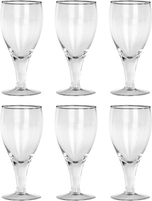 Somil Multipurpose Designer Look Transparant Glass Set Of Four No_SK47 Glass Set(Glass, 330 ml, Clear, Pack of 6) at flipkart
