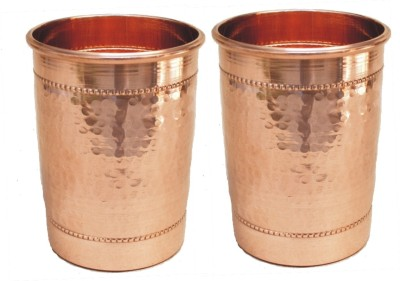 Veda Home   Lifestyle  Pack of 2  GLST173 Glass Set 500 ml, Copper Veda Home   Lifestyle Glasses
