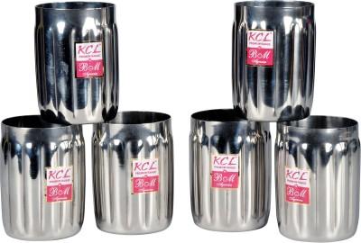 KCL Glass Set(250 ml, Silver, Pack of 6) at flipkart