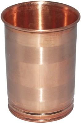Qubic Inc Copper Glass Silver Touch Glass 250 ml, Copper