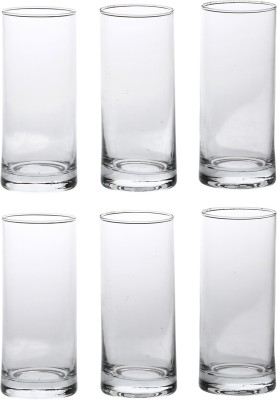 Somil Somil Special Airindia Multipurpose Clear Glass Set Of 6 Glass Set(Glass, 300 ml, Clear, Pack of 6) at flipkart