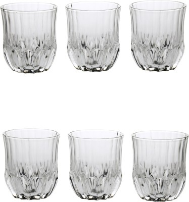 Somil Somil Stylish Shape Self Designer Multipurpose Glass Design No-AF12 Set Of 6 Glass Set(Glass, 325 ml, Clear, Pack of 6) at flipkart