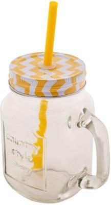 roxx mason_y Glass Set(Glass, 480 ml, Yellow, Pack of 2) at flipkart