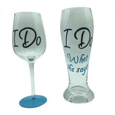 The Crazy Me Glass Set(750 ml, White, Pack of 2) at flipkart