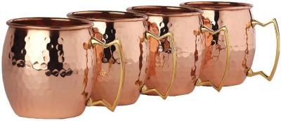 Inspiration World INS1512062wd Glass Set(Copper, 200 ml, Yellow, Pack of 4) at flipkart