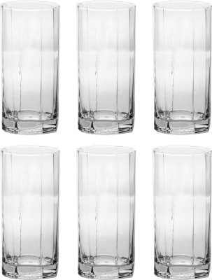 Somil Multipurpose Designer Look Transparant Glass Set Of Four No_SK55 Glass Set(Glass, 330 ml, Clear, Pack of 6) at flipkart