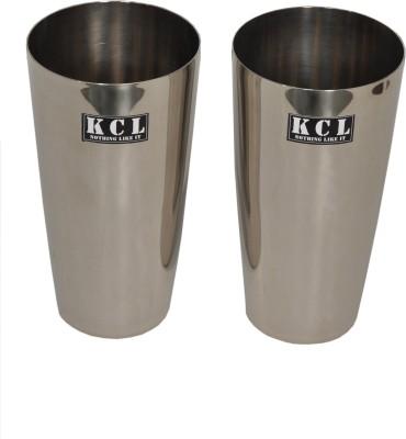 KCL Glass Set(500 ml, Steel, Pack of 2) at flipkart