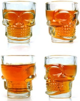 Exciting Lives 1628 Glass Set(Glass, 30 ml, Clear, Pack of 4)
