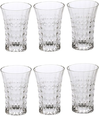 Somil Somil Stylish Shape Self Designer Multipurpose Glass Design No-BC04 Set Of 6 Glass Set(Glass, 225 ml, Clear, Pack of 6) at flipkart