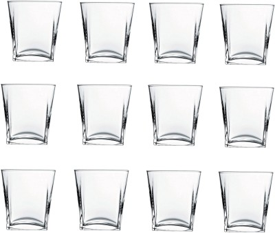 Pasabahce GP/CARRE WHISKY GLASSES Glass Set(Glass, 310 ml, Clear, Pack of 12)